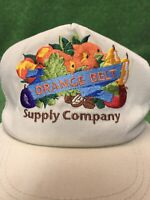 Vintage Orange Belt Supply Company Tan SnapBack Farm Ag Made In USA Hat Cap
