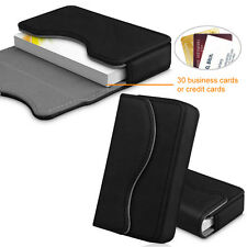 Business Card Holder Name Card Wallet Case Organizer With Magnetic Closure Black
