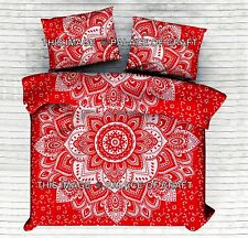 Indian Ombre Mandala Comforter Duvet Set King Cotton Bedding Doona Quilt Cover