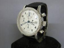 Tutima Steel Diamond Bezel Chronograph With Box & Papers