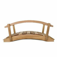 All Things Cedar Garden Foot Bridge Platform with Hand Rails, Brown (For Parts)