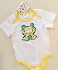 Hanna Andersson One Piece Frog Yellow Trim sz 80 /10-24 mos