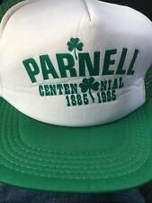 Vintage Parnell Centennial 1985 Snapback Trucker Hat Cap 1980s Mesh Foam Iowa