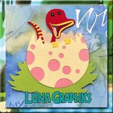 DINOSAUR HATCHING FROM EGG Embellishment card toppers and scrapbooking