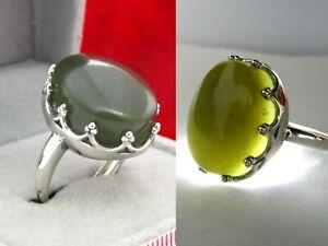 Yemen green Jade agate silver ring- ِAkik Aqiq خاتم فضه عقيق  يشم جاد يمني اخضر