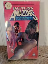 Battling Amazons Rare OOP NR Wrestling VHS 1987 Active Home Video #A602 LA USA