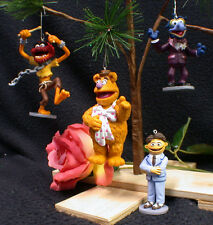 Muppet Christmas Tree Ornament Set 4 lot Gonzo Fossie Animal Walter funny Disney