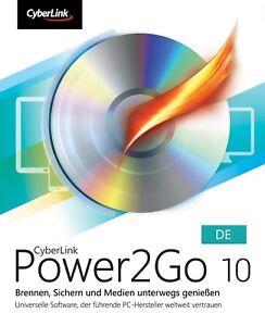 CyberLink Power2Go 10 DE - CD DVD Burn Backup For Windows  PC ✅