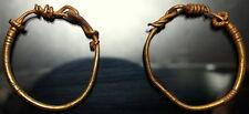 Women Roman Gold earrings pair of 2. Gorgeous and rare. Part of Livia's Treasure