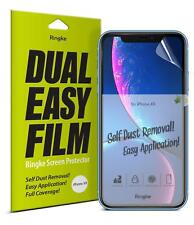 For iPhone XR Screen Protector | Ringke [Dual Easy Film] Clear Full Cover [2Pcs]