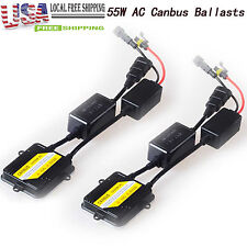 55W AC Canbus SLIM BALLAST Error Free HID Conversion KIT For 9005 9006 H4 H7 H11