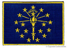 INDIANA STATE FLAG PATCH EMBROIDERED IRON-ON new APPLIQUE EMBLEM IN