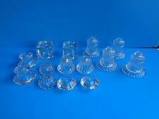 Lot Clear Glass Lamp Spacers Breaks Risers 14 Each Misc Lamp Parts