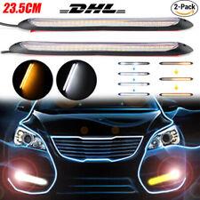 2x 23CM SMD LED Tagfahrleuchten Tagfahrlicht Blinker Streifen DRL Auto KFZ 12V