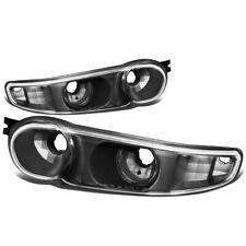 Fit 2001-2007 GMC Sierra/Yukon Pair Front Bumper Light Turn Signal Lamps Black