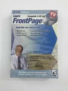 Video Professor - Learn FrontPage PC CD-Rom Software 3-CD Disc Set (New Sealed)