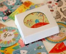 Box of cute kawaii kitsch cartoon animal stickers