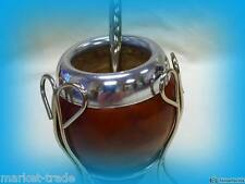 MATE  WOODEN GOURD WITH STAND SET + STRAW + Mate cocido Bag FREE SHIPPING