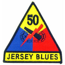 """US ARMY 50th Armored Division """"JERSEY BLUES""""  4 inch patch"""