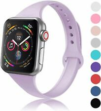 Thin Sport Silicone Band Strap For Apple Watch Series 5 4 3 2 1 38/42mm 40/44mm