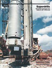 Equipment Brochure - Ingersoll-Rand Superdrills Downhole Hammer - 1983 (E4759)
