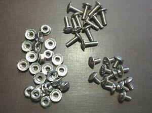 12 pcs 10-32 x 3/8 & 12 pcs 10-32 x 5/8 stainless grille rivet screws nuts Chevy