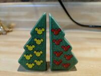 Disney Christmas Tree Mickey Salt Pepper Shaker Set FREE SHIPPING