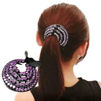 Fashion Ladies Hair Clips Pins Nest Crystal Hairpin Ponytail Hair Bun Holders IE