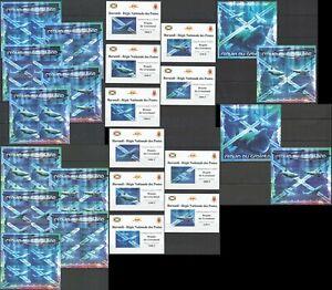 BU100 IMPERF,PERF 2012 BURUNDI MARINE LIFE GREENLAND SHARKS !!! 12BL+12KB MNH