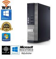 Dell OptiPlex 3010 Intel i3 Windows 7/10 New 120GB SSD 4GB/8GB WiFi Desktop HDMI