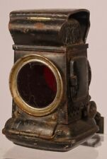 VINTAGE BICYCLE CYCLE OIL LAMP  - JOSEPH LUCAS LAMP - MODEL 29T - REAR AND FRONT