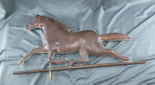 Large Vintage Primitive Copper Horse Weather Vane Topper Folk Art Metalware