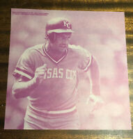 ULTRA-RARE PINK 9X9 GEORGE BRETT PHOTO NEGATIVE KANSAS ROYALS CITY BASEBALL HOF