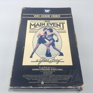 THE MAIN EVENT - Warner Pre-Cert Big Box Ex-Rental VHS video - Barbra Streisand