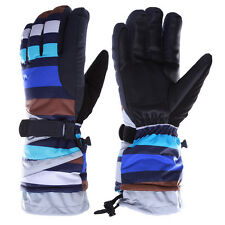 Blue Men Winter Waterproof -38℃ Snow Motorcycle Snowmobile Snowboard Ski Gloves