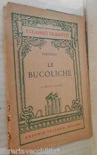 LE BUCOLICHE Virgilio A cura di J Luzzatto VallardiClassici Latini Letteratura