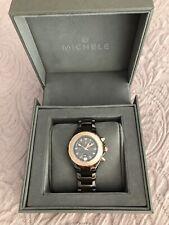MICHELE Tahitian Ceramic Diamond Chronograph Watch