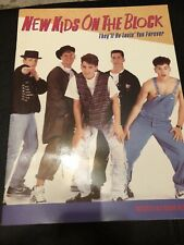 New Kids On The Block Nkotb They'll Be Lovin' You Forever 1989 Poster Book