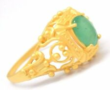 Ring Emerald 925 Sterling Silver Ø 18,1 mm Gold Plated