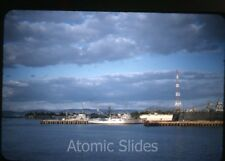 1950s red border Kodachrome Photo slide US navy Guantanamo Bay base Cuba 10 ship