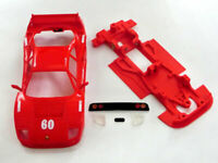 Chasis Block Lineal F-40 mas accesorios compatible SCX Scalextric ES Mustang