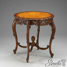 L21245:Finely Carved and Inlaid French Style Round Center Occasional Table ~ New