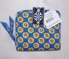VERA BRADLEY - MINI ZIP WALLET RETIRED RIVIERA BLUE -  NEW WITH TAG