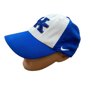 Nike Embroidered Baseball Cap Hat University of Kentucky UK Blue White Swoosh