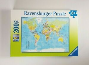 New - Ravensburger Map Of The World Jigsaw Puzzle 200 XXL Pieces Geography