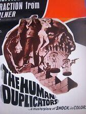 ORIGINAL PRESSBOOK 1965 ..'' THE HUMAN DUPLICATORS ! '' ..