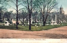 Vintage Cleveland, Ohio Lake View Cemetery Printed Postcard