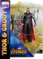 Marvel Select ~ THOR & GROOT ACTION FIGURE SET ~ Avengers: Infinity War ~ DST