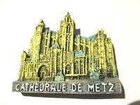 Magnet Metz Kathedrale Polyresin, Souvenir Frankreich France,Neu