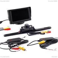 """2.4GHz Inalámbrico 4.3"""" LCD monitor de pantalla + Matrícula Coche Cámara IR de reserva"""